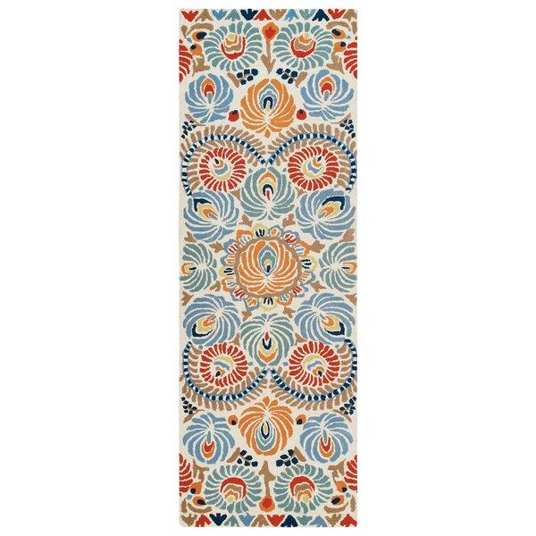 Matyo Hand Tufted Wool Cream/Blue Area Rug by CompanyC