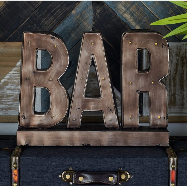 Bodie LED Bar Sign Letter Block by Trent Austin Design