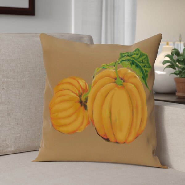 Pumpkin Patch Holiday Print  OutdoorThrow Pillow by The Holiday Aisle