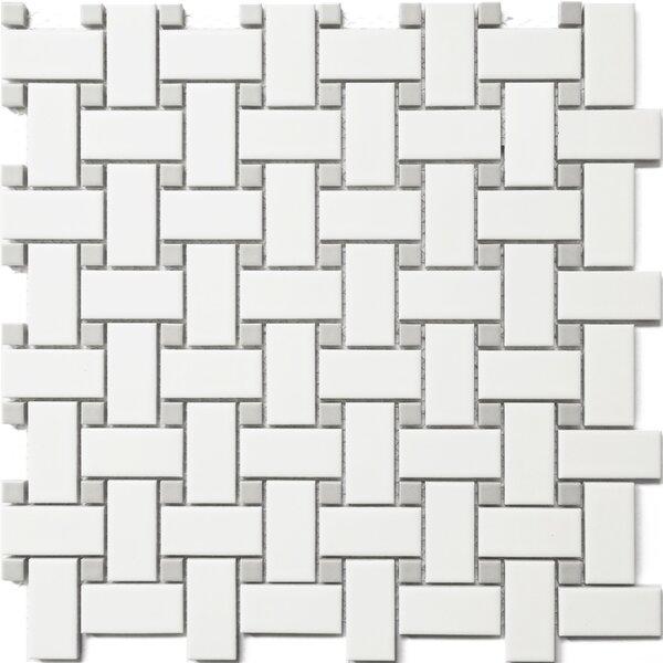 Basket Weave 12 x 12 Porcelain Mosaic Tile