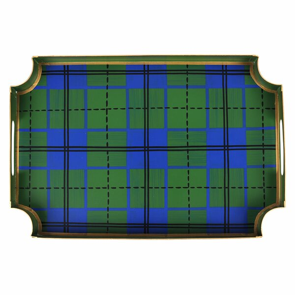 Sickels Plaid Coffee Serving Tray by Millwood Pines