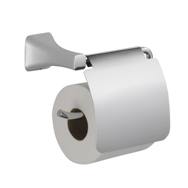 Wall Mounted Toilet Paper Holder With