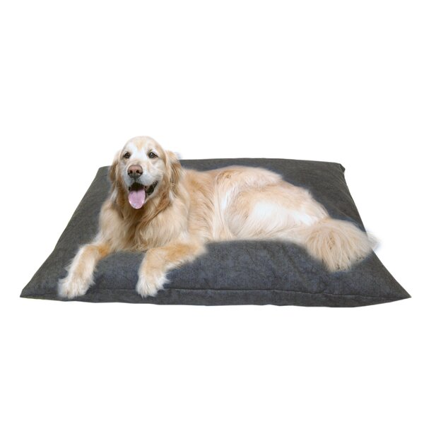 Cleary Indoor/Outdoor Shegang Dog Bed in Solid Blue by Tucker Murphy Pet