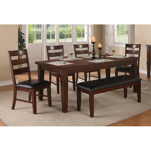 Kaneshiro 6 Piece Extendable Dining Set by Alcott Hill