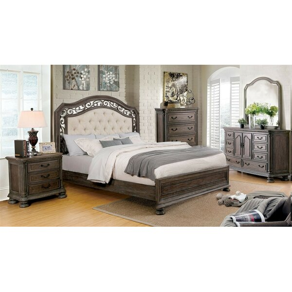 Simpson Upholstered Standard Bed by Fleur De Lis Living