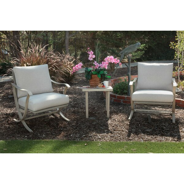 Jamal 3 Piece Seating Group with Cushions by Rosecliff Heights