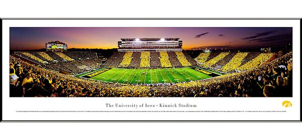 NCAA The University of Iowa - Spirit Week Standard Framed Photographic Print by Blakeway Worldwide Panoramas, Inc