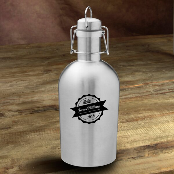 Bottle Top Personalized 64 oz. Stainless Steel Growler by JDS Personalized Gifts