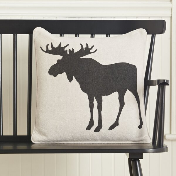 Moose Silhouette Pillow Cover by Birch Lane™