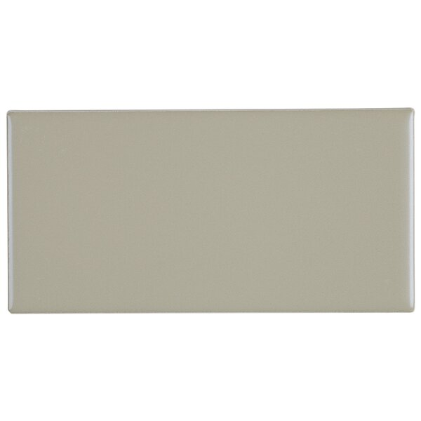 Guilford 3 x 6 Ceramic Subway Tile in Matte Architectural Gray by Itona Tile