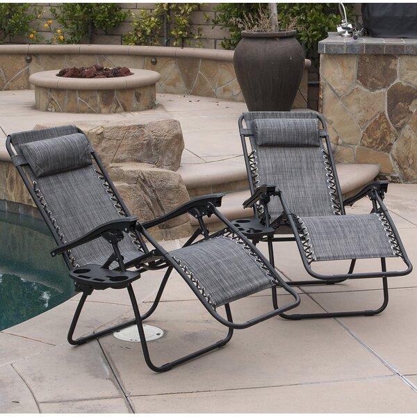 Winnett Zero Gravity Chaise Lounge with Cushion (Set of 2) by Zipcode Design