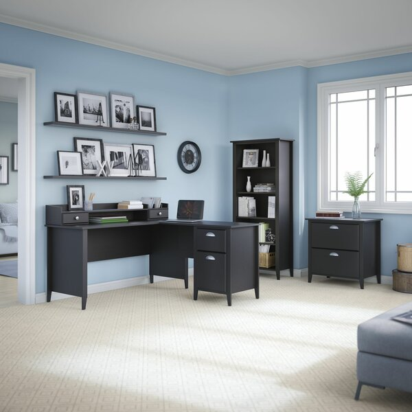Connecticut 4 Piece L-Shape Desk Office Suite by Kathy Ireland Office by Bush