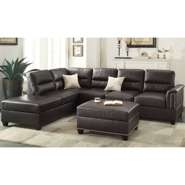 Eddie Reversible Sectional with Ottoman by A&J Homes Studio