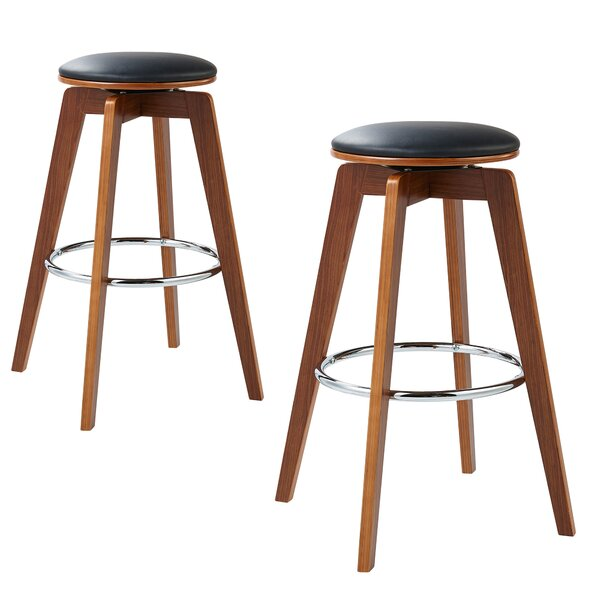 Elegante Bentwood 36 Swivel Bar Stool by VERSANORA