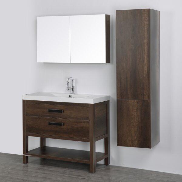 39 Single Bathroom Vanity Set with Mirror by Streamline Bath