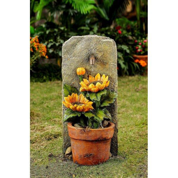 Resin/Fiberglass Sunflower Water Fountain by Jeco Inc.