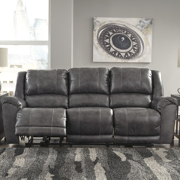 Find Popular Waterloo Leather Reclining Sofa by Darby Home Co by Darby Home Co