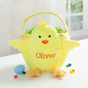 Shop For Personalized Chick Easter Fabric Basket ByHarriet Bee