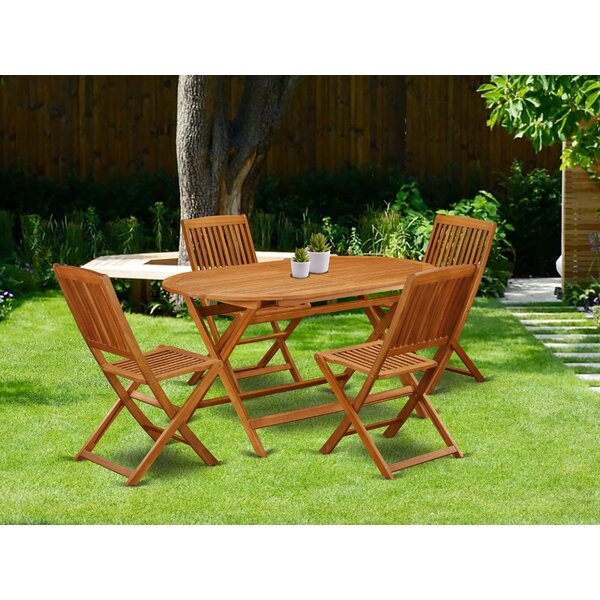 Zavier 5 Piece Patio Dining Set by Longshore Tides