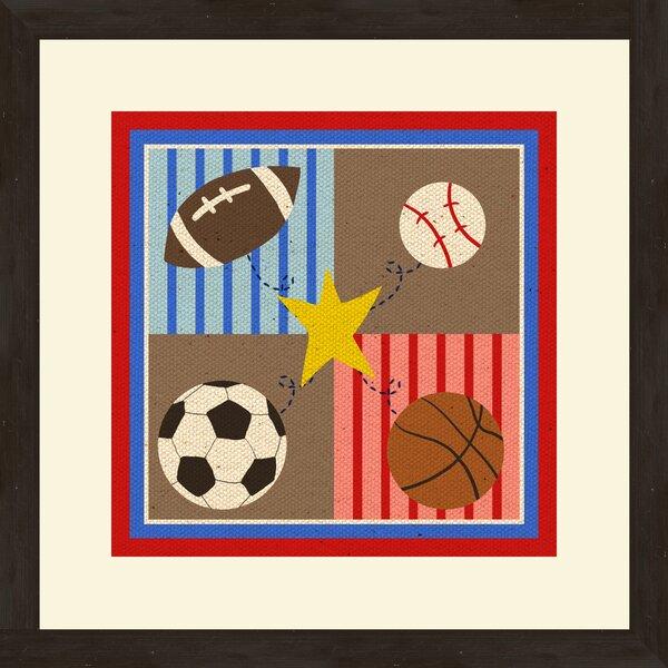 2 Piece 4 Sports Framed Art Set by PTM Images