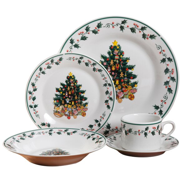 Tree 20 Piece Dinnerware Set, Service for 4 by The Holiday Aisle