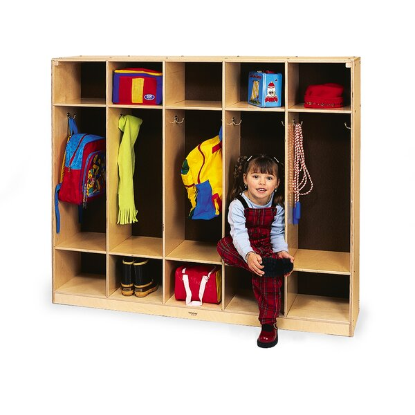 3 Tier 5 Wide Coat Locker by Whitney Brothers