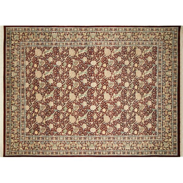 Pak-Persian Riley Hand Knotted Wool Red Area Rug by Noori Rug