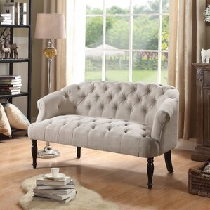 Compare prices Alcott Hill Garner Tufted Chesterfield Settee