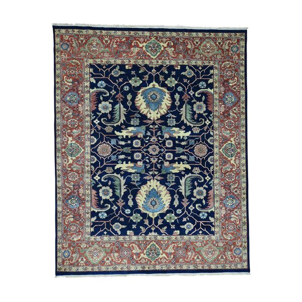 One-of-a-Kind Rueter Hand-Knotted Navy Blue Area Rug by Astoria Grand
