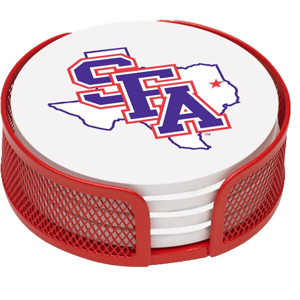 5 Piece Stephen F. Austin University Collegiate Coaster Gift Set by Thirstystone