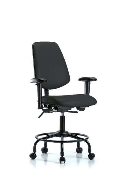 Elyssa Round Tube Base Ergonomic Office Chair by Symple Stuff