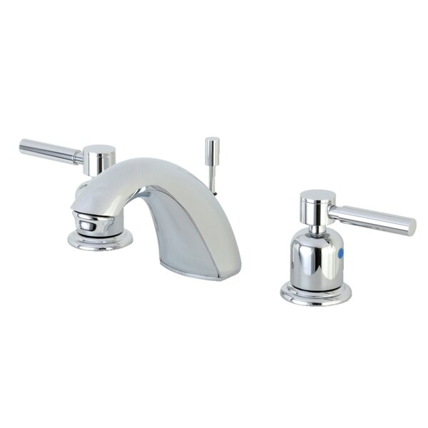 Concord Widespread faucet Bathroom Faucet with Drain Assembly by Kingston Brass Kingston Brass