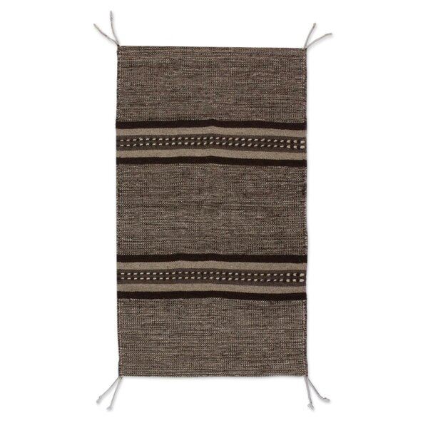 Rhinecliff Hand-Woven Wool Gray Area Rug by Bloomsbury Market