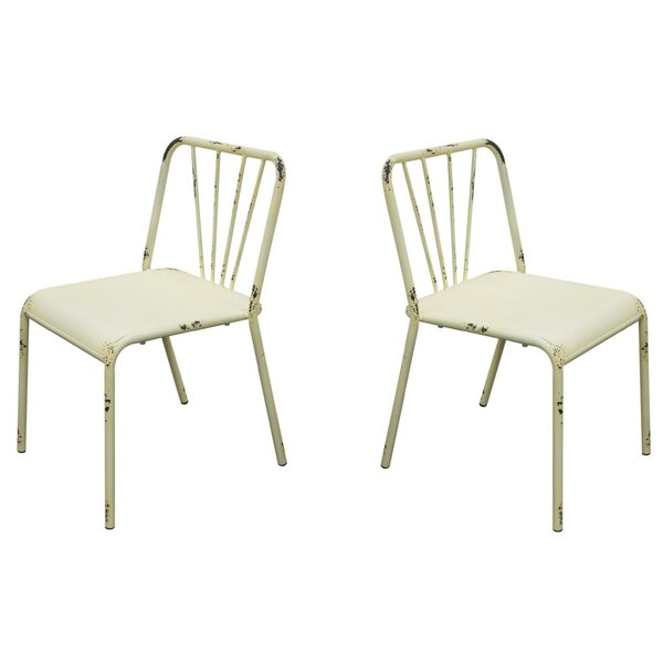Soriano Metal Stacking Patio Dining Chair (Set of 2) by August Grove