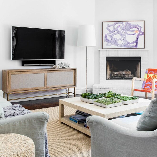 How to find the right tv stand wayfair for What height to mount tv in living room