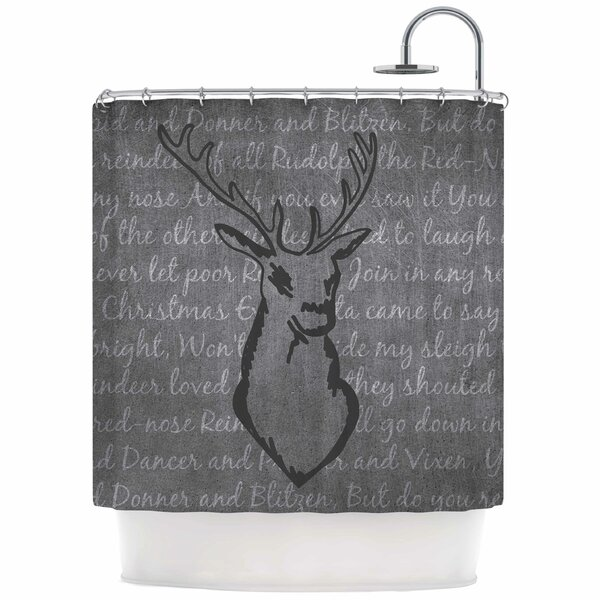 Reindeer Shower Curtain by East Urban Home