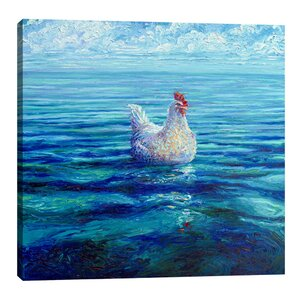 Chicken of the Sea by Iris Scott Painting Print on Wrapped Canvas by Jaxson Rea