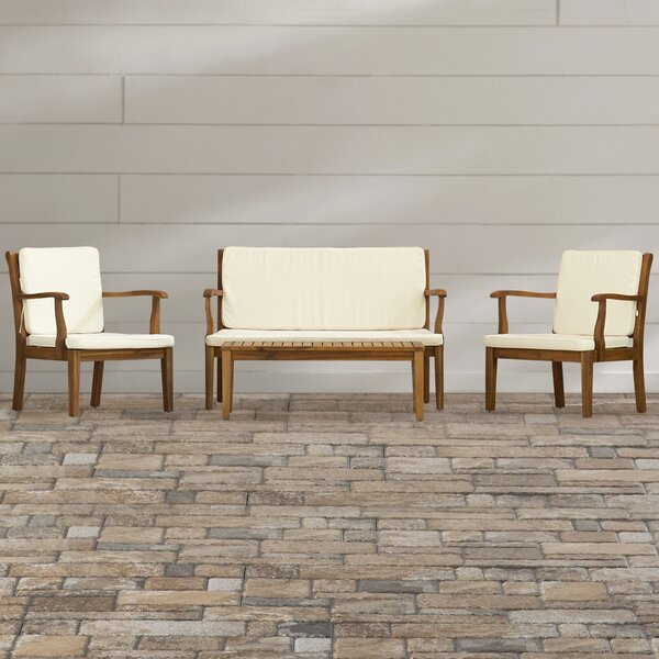 Cramlington 4 Piece Sofa Seating Group with Cushions by Three Posts Three Posts