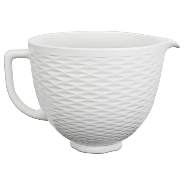 5 Qt. Ceramic Bowl - KSM2CB5TLW by KitchenAid
