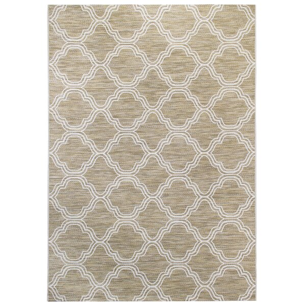 Mcquay Beige/White Indoor/Outdoor Area Rug by House of Hampton