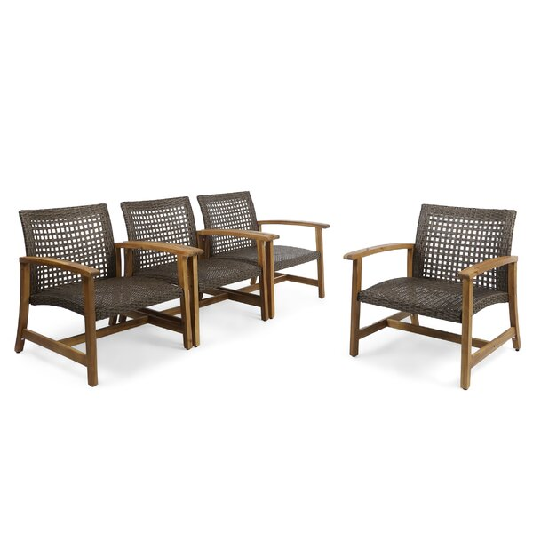 Ravenstein Patio Chair (Set of 4) by Bungalow Rose