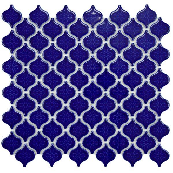 Beacon 1.375 x 1.5 Porcelain Mosaic Tile in Cobalt by EliteTile