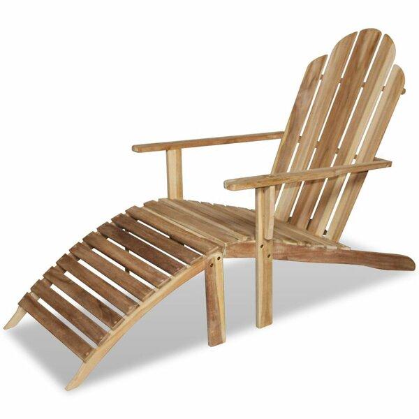 Teak Chaise Lounge by East Urban Home East Urban Home