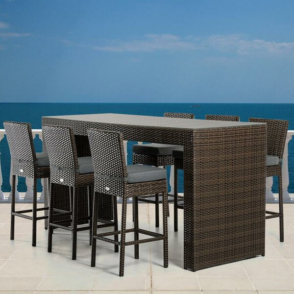 Hornback 7 Piece Bar Height Dining Set with Cushions by Latitude Run
