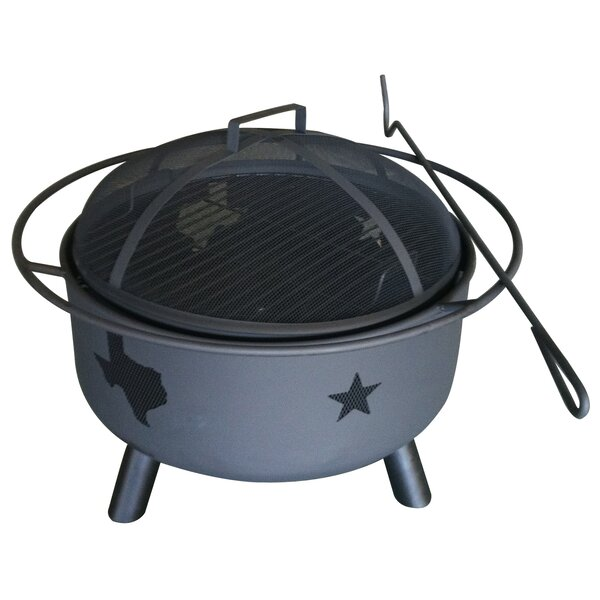 Texas Map and Star Steel Fire Pit by Leigh Country