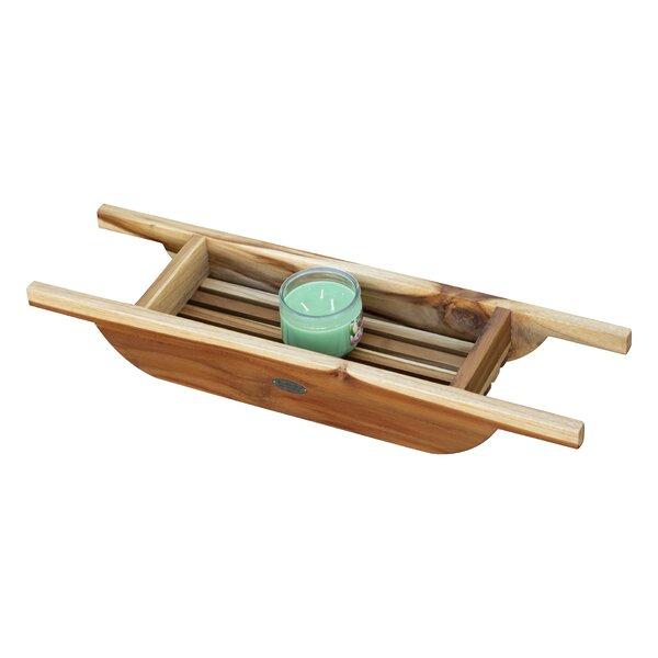 Solid Teak Bath Caddy by EcoDecors