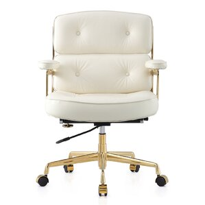 16 Leather Office Chair With Lumbar Support