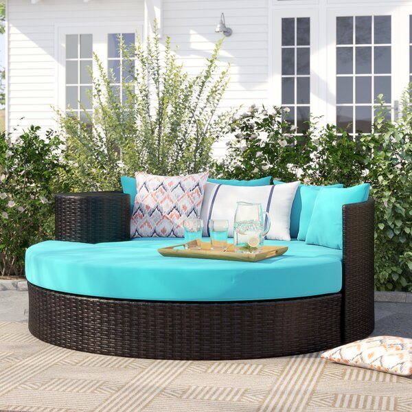 Freeport Patio Daybed with Cushion by Sol 72 Outdoor