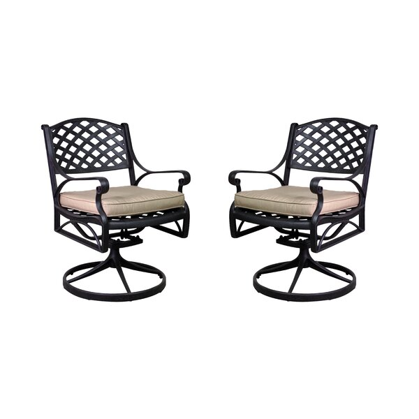Amelio Patio Chair with Cushion (Set of 2) by Darby Home Co