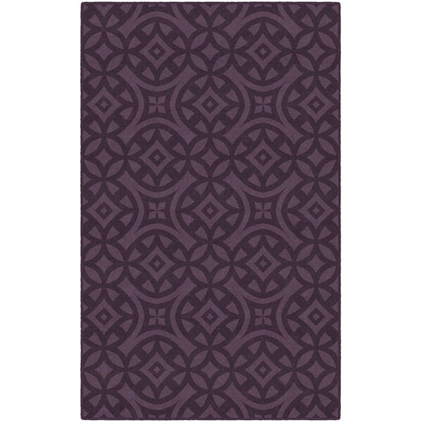 Messer Royal Trellis Purple Area Rug by World Menagerie